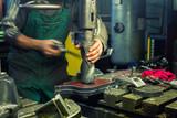 metal drilling in metal workshop