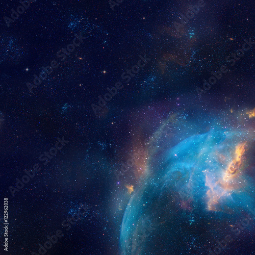 Deurstickers Heelal Galaxy illustration, space background with stars, nebula, cosmos clouds
