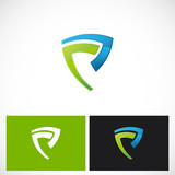 shape shield abstract vector logo