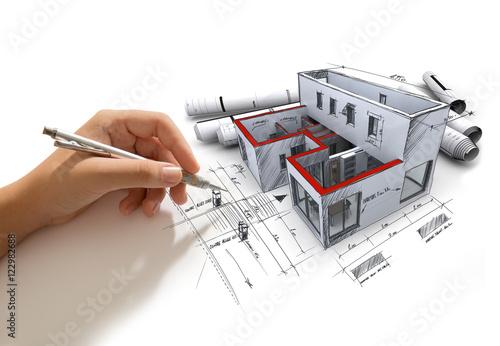 Projekt architektoniczny w toku