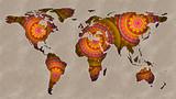 World Map Mandala - 122984687