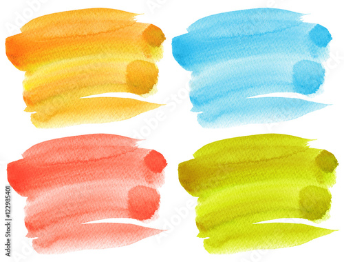 Plexiglas Geschilderde Achtergrond Abstract watercolor hand painted background. Textured paper.