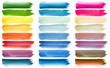 Quadro Set of colorful watercolor brush strokes