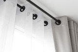 The white curtains with ring-top rail - 122990275