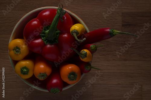 Paprika & Chili in Schüssel