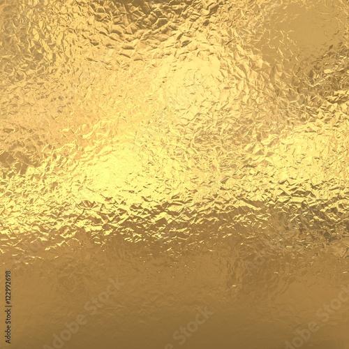 Gold foil background, golden metallic texture