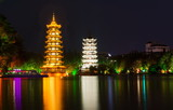 Two towers landmark of Guilin China
