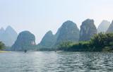 Karst rocks and Li River in Yangshou, China