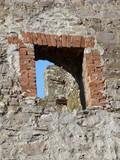 Бойница в стене генуэзской крепости Кафа (Крым)