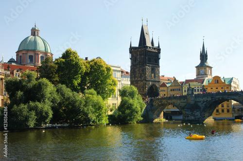 Zdjęcia Prague, Prag, Karlsbrücke, Moldau, Altstadt, Altstädter Brückenturm, Copyspace