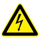 Warnzeichen Strom - 123042070