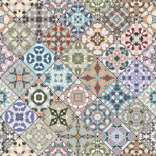 Fototapeta Patchwork abstract patterns