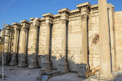 Poster Ruinen der Hadriansbibliothek beim Monastiraki-Platz in Athen