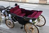 Il calesse ornato per gli sposi