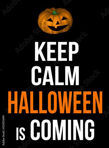 Keep calm Halloween is coming poster Plakát