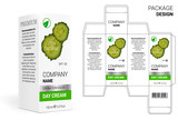 Packaging Design Cosmetics, cut the carton. Shampoos, creams, perfumes, balm.