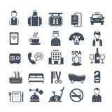 big set of vector icons for hotel service - 123081800