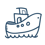 hand drawn vector ship illustration - 123081873