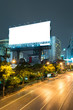 Empty roadside billboards at one avenue of thailand, Blank billb
