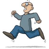 illustration of a man running very fast