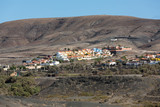 La Pared village on the south western part of Fuerteventura . Canary Islands, Spain