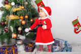 Cute little girl in Santa