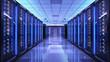 Leinwanddruck Bild - Server racks in server room data center
