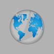 World map glass illustration