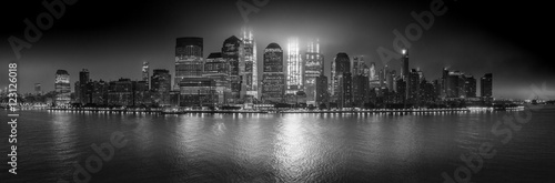 Foto op Aluminium New York Manhattan (B&W)