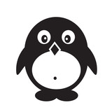 Pinguin icon illustration design