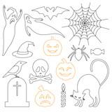 Halloween icons set - 123143660