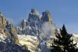 Sass Maor mountain, mountain group Pale di San Martino, Dolomite mountains - Italy, Europe, UNESCO World Heritage Site
