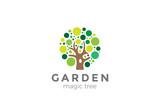 Tree Logo design vector. Creative ideas Garden Logotype icon