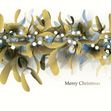 Mistletoe / Seamless pattern or Christmas card
