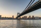 New York City Skyline from Brooklyn at dusk - 123162421