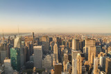 New York City skyline from the Empire State Building at sunset - 123162681