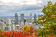 Montreal Skyline in Autumn, Canada