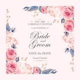 Vintage wedding invitation - 123171689