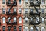 Old Brick Apartment Buildings in Manhattan, New York City