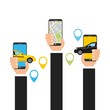 transport service app technology icon vector illustration design