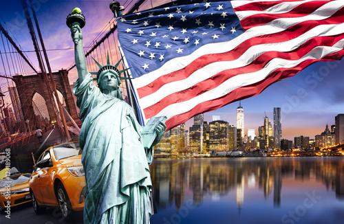 Fotobehang New York New york city symbols