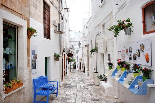 Apulia, Italy - alley of the white city Ostuni