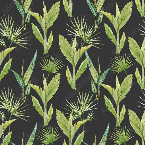 tropikalny-wzor-akwarela