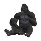 3D Rendering Gorillas on White