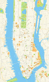 New York Map - vector illustration