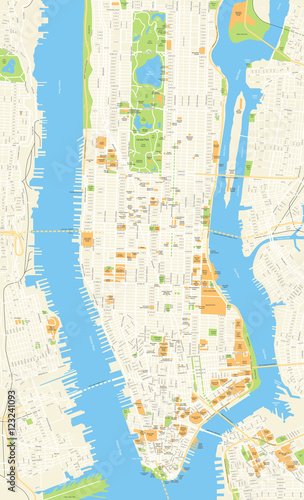 New York Map - vector illustration