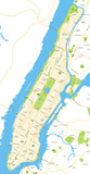 Manhattan - New York City Map - vector illustration