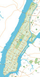 Manhattan - New York City Map - vector illustration - 123243214