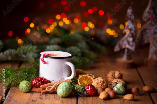 Papiers peints Chocolat Duftende heiße Schokolade zu Weihnachten