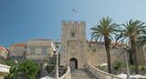 Korcula, town gate,street of old town,Croatia, - 123268803